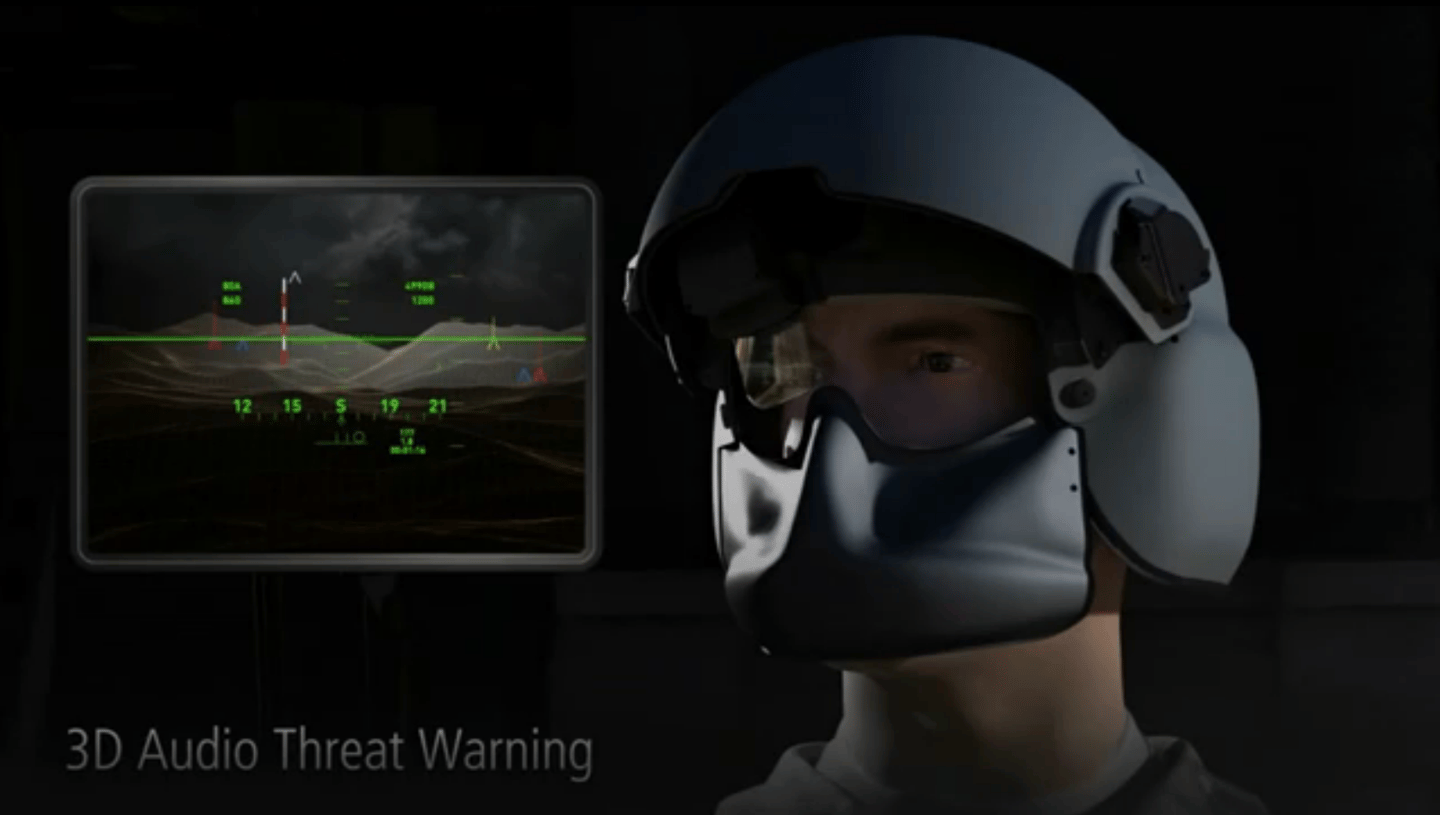 Raytheon's 3D Audio system presenting a threat warning