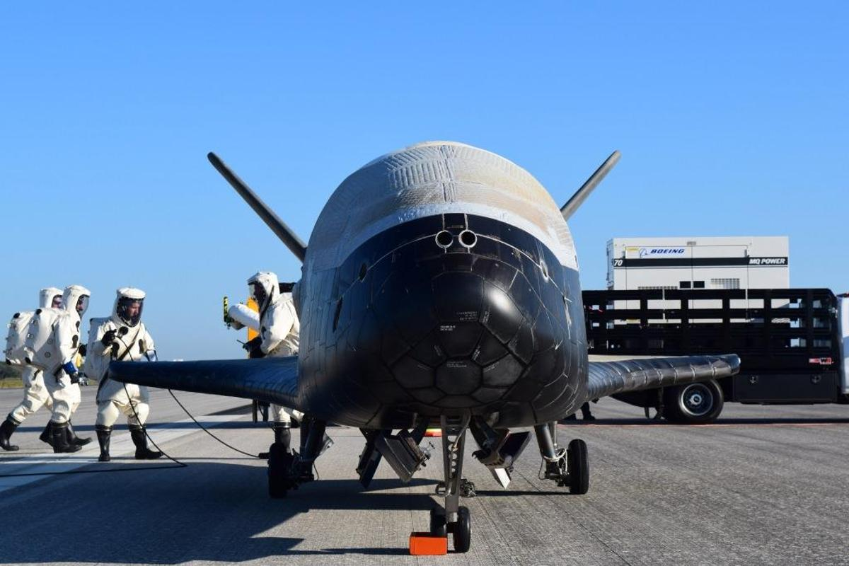 OTV-4 landed at the Kennedy Space Center in Florida after spending 718 days in orbit
