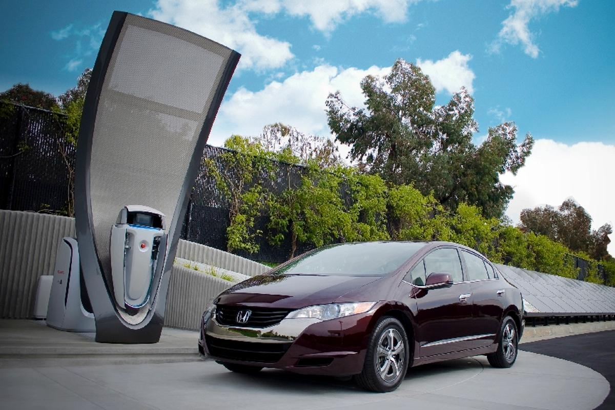 Honda has begun work on a domestic solar-powered hydrogen refueling station that is smaller and intended to fit within the home's garage for overnight charging of fuel cell EVs, like the Honda FCX Clarity