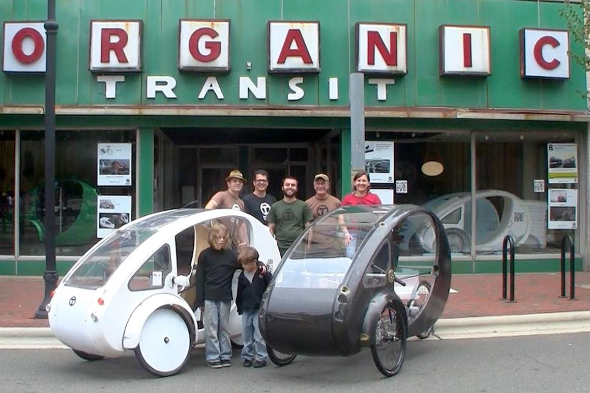 The ELF is a pedal/electric velomobile, that can be charged using a built-in photovoltaic panel