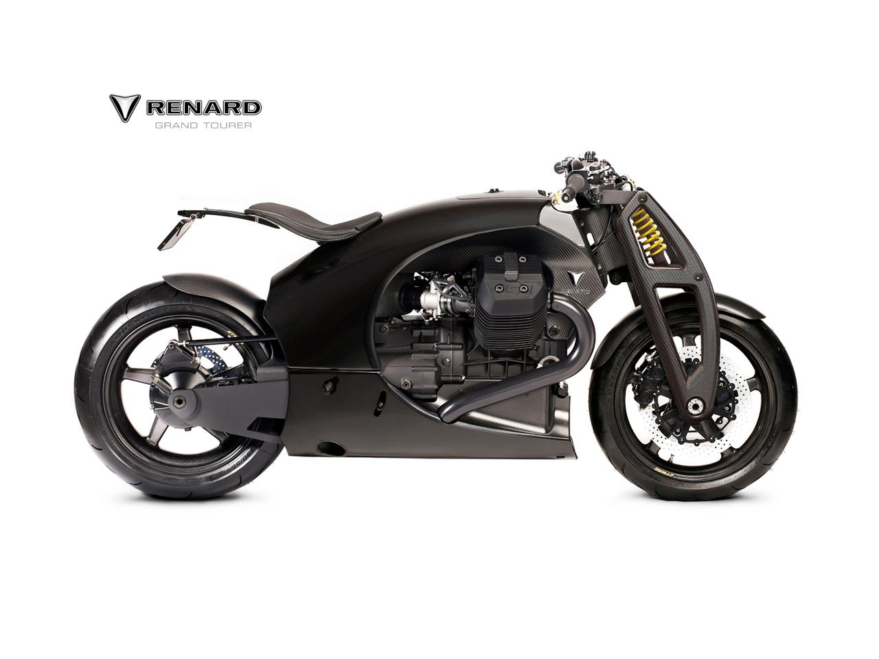 """The 90° v-twin donk is no horsepower king, but it's usable midrange and light weight will no doubt contribute to what Renard's press material dubs a """"surgeon's blade on two wheels."""""""