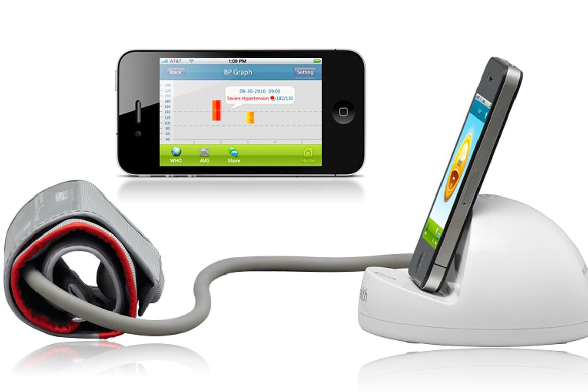 The iHealth Blood Pressure Monitoring System and iHealth Scale allow users to measure and track their blood pressure and weight via their iPhone, iPod touch or iPad