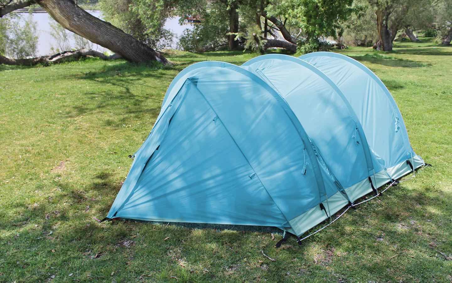 RhinoWolf tents link up and create a multi-person tent
