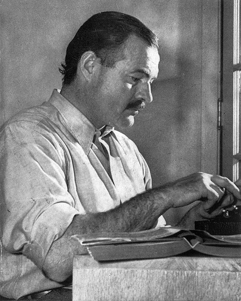 The app is named after Ernest Hemingway. This is him