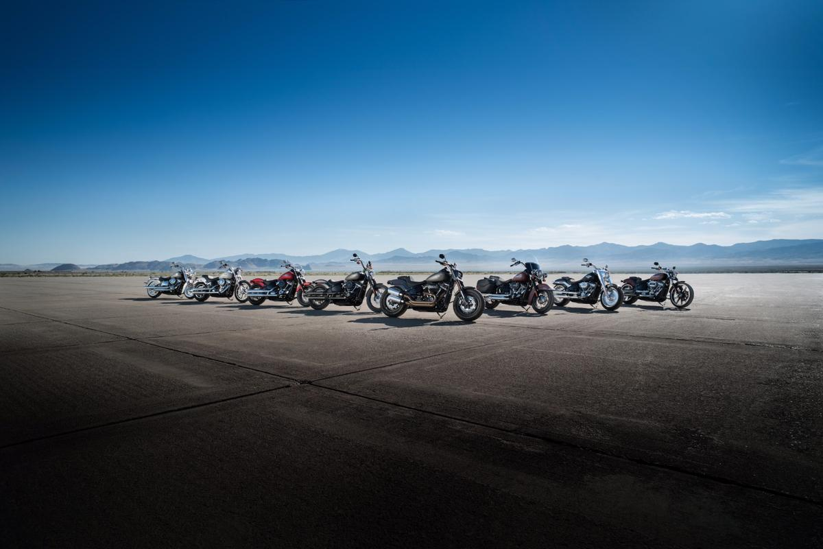 Only the names remain unchanged in Harley-Davidson's 2018 Softail range