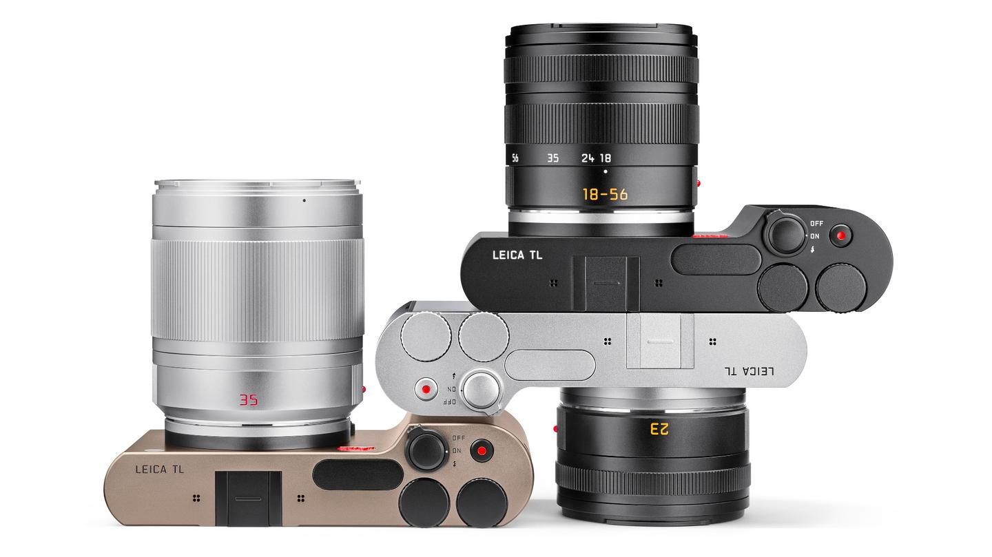 The Leica TL will be available in sliver, black, and titanium