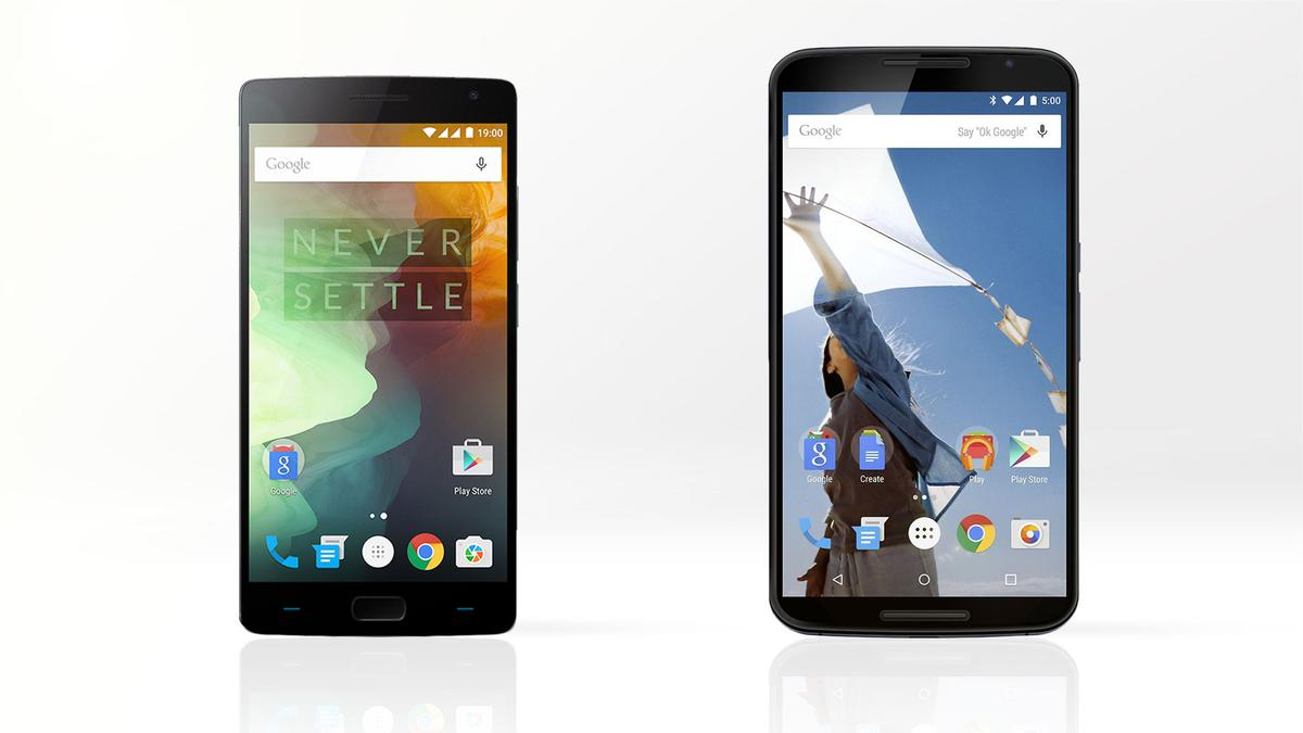 Gizmag compares the features and specs of the OnePlus 2 (left) and Google/Motorola Nexus 6