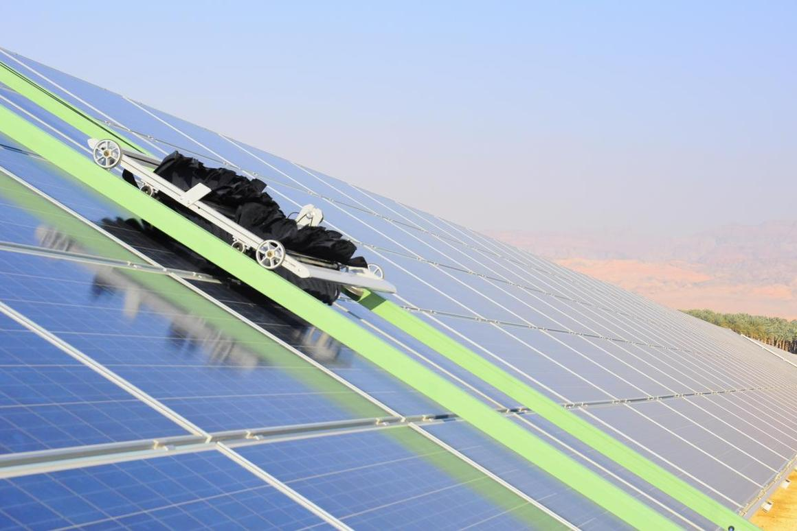 The panels at the Ketura Sun solar plant in Israel are now cleaned autonomously by E4 robots