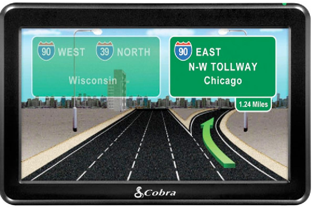 "The Cobra 7750 Platinum navigation unit is designed for truck drivers, it features a large 7"" screen, 3D map renderings of difficult intersections and 33,000 trucker points of interest"