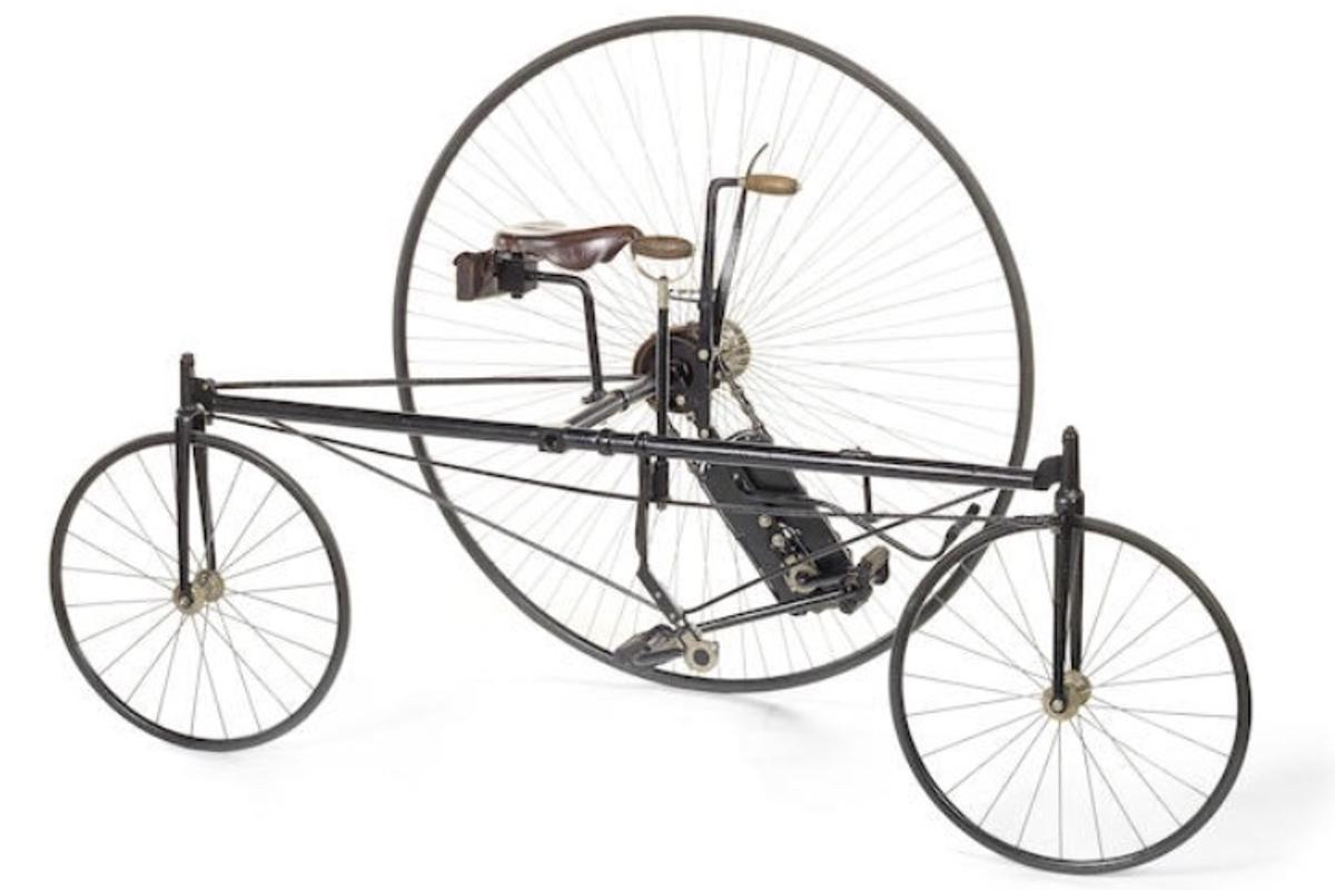 The bizarre Coventry Rotary tricycle, which is about to go auction