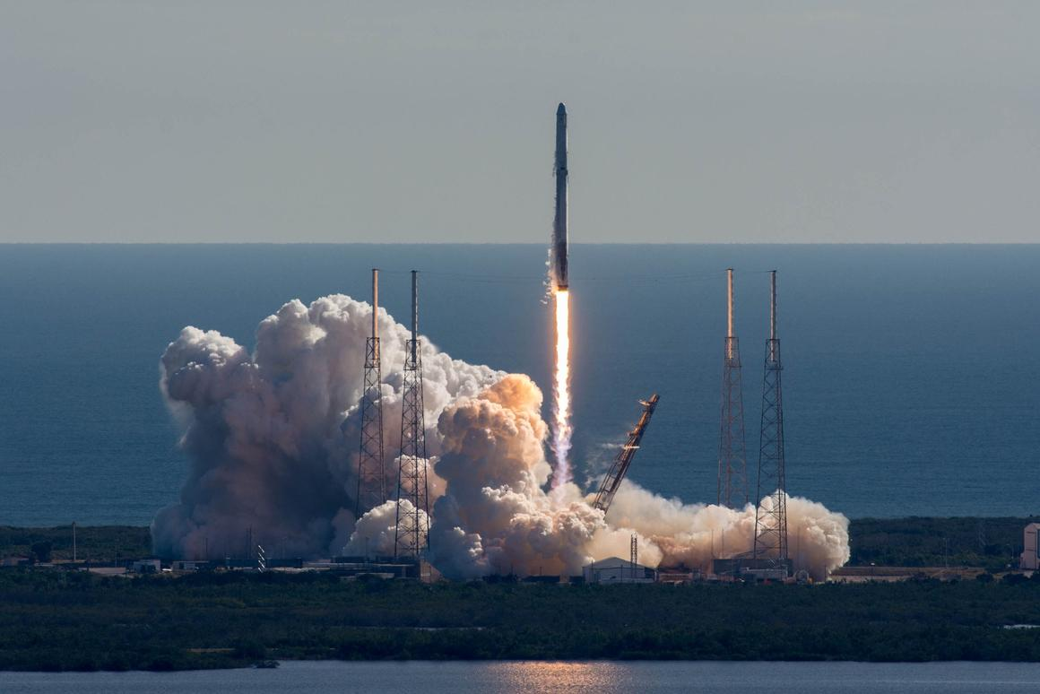 SpaceX's CRS-13 mission lifts off