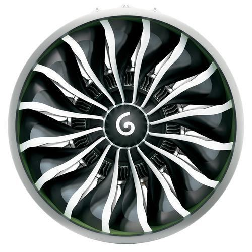 Rendering of the GE9X fan using a new fourth-generation composite