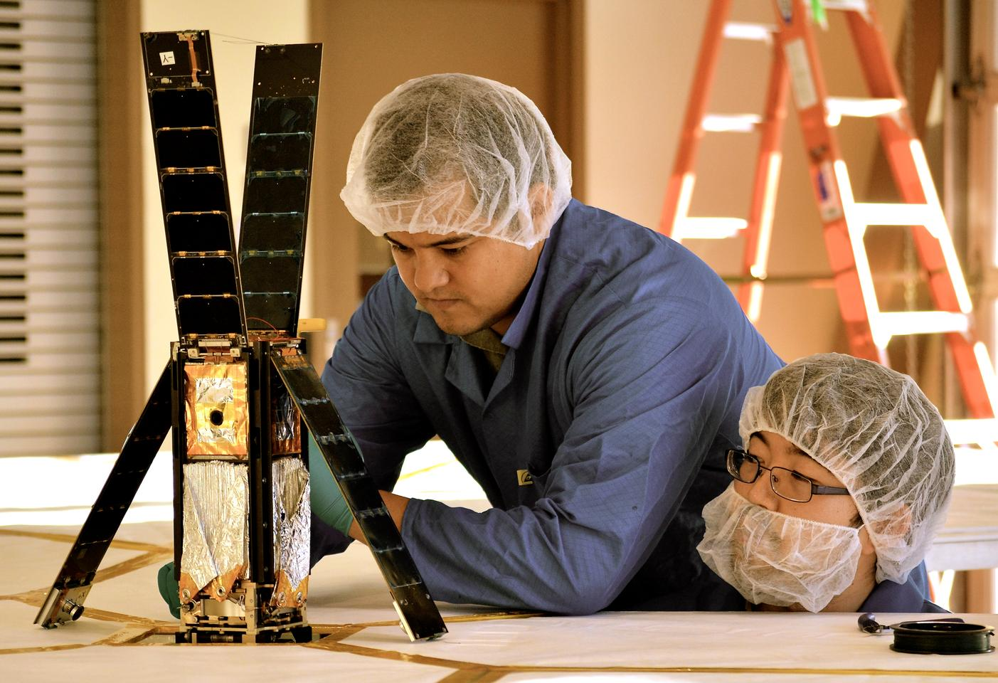 The LightSail CubeSat being tested