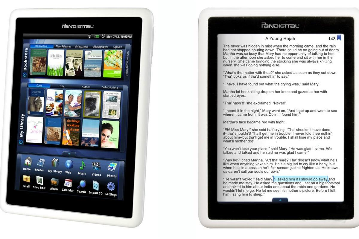 The first e-reader from digital photo frame manufacturer Pandigital sports a 7 inch color LCD display and benefits from access to the Barnes & Noble eBookstore