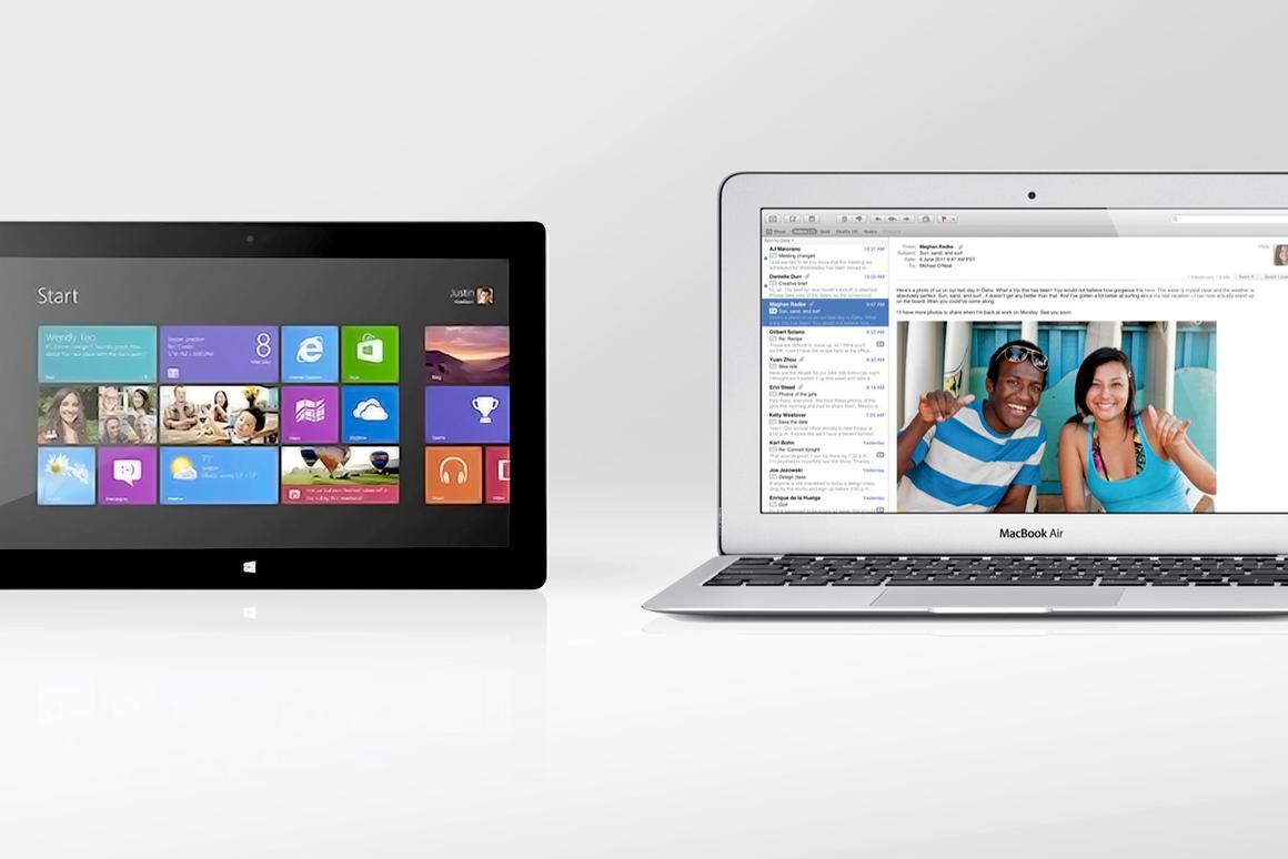 Microsoft Surface Pro vs  2012 MacBook Air (11-inch)