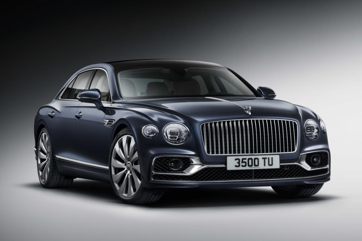 Rear-wheel steering is among the new goodies on the all-new Bentley Flying Spur