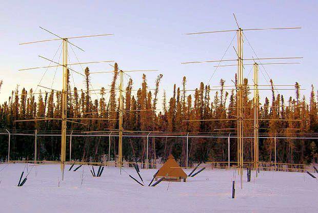 HAARP's VHF relative ionospheric opacity meter antenna array (Photo: HAARP)