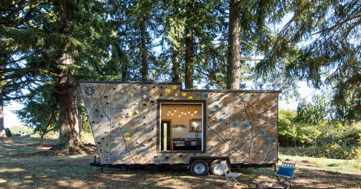 This tiny house will have you climbing the walls