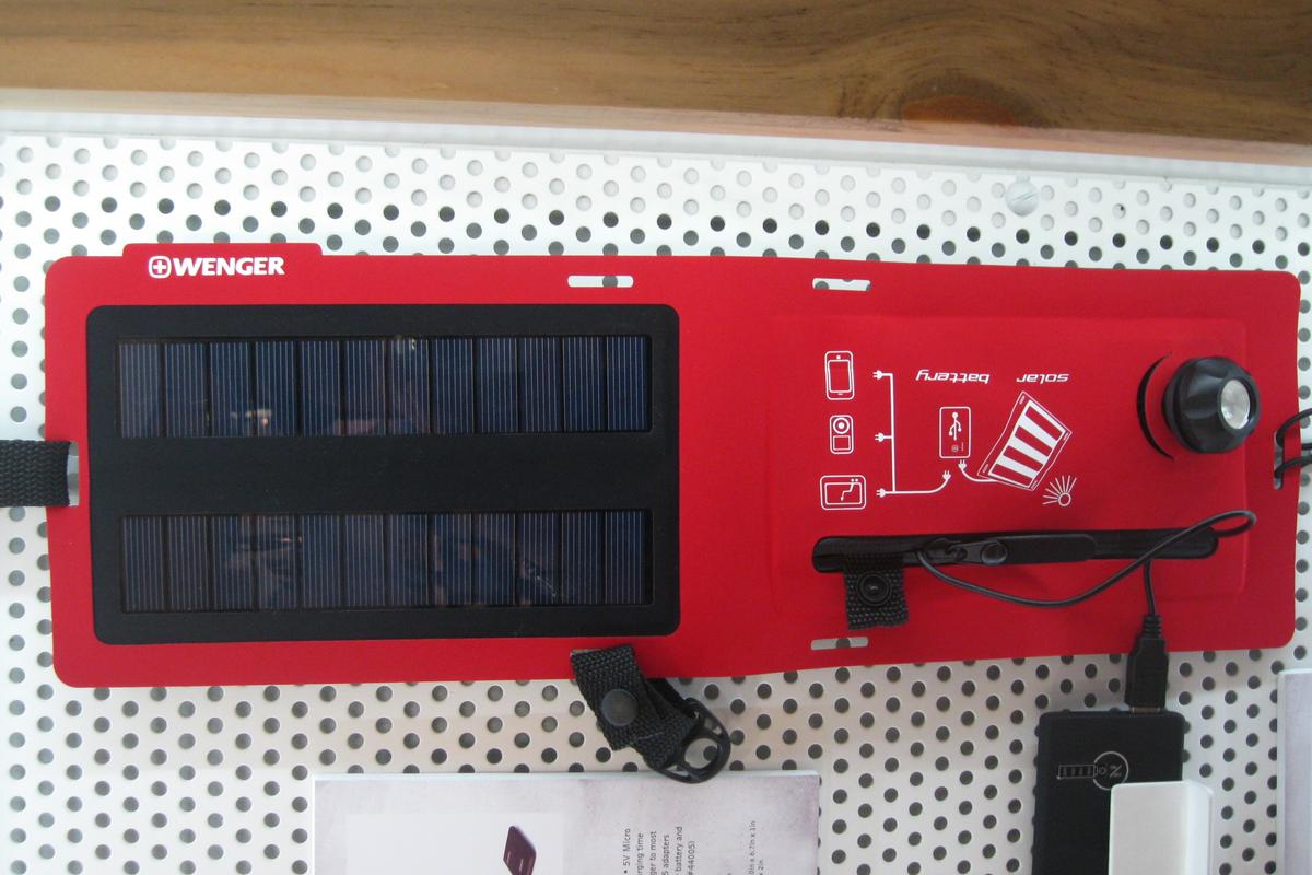 An optional LED adds a little portable lighting to your solar charger