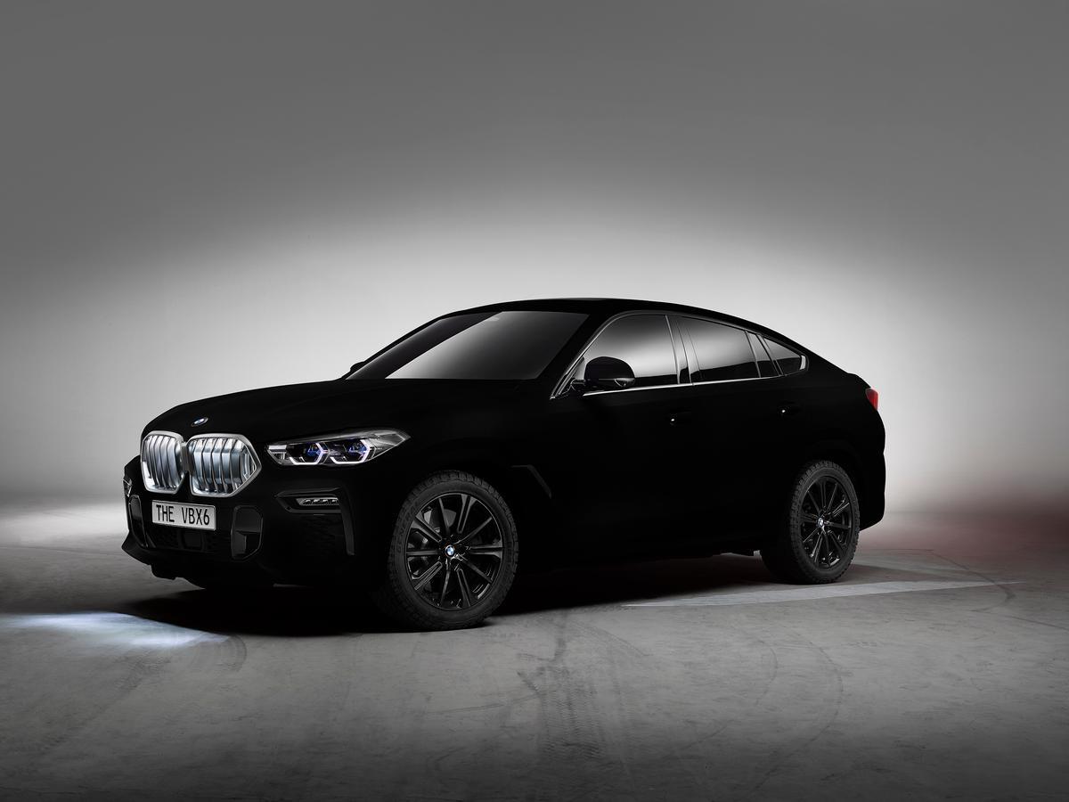 The world's first Vantablack car is a BMW X6