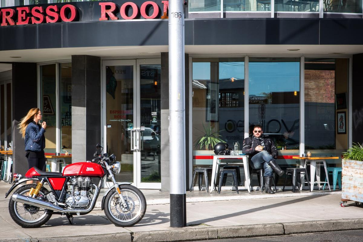 Royal Enfield's Continental GT: a classic style that aims to offer modern reliability. (Photo: Chris Blain/Gizmag)
