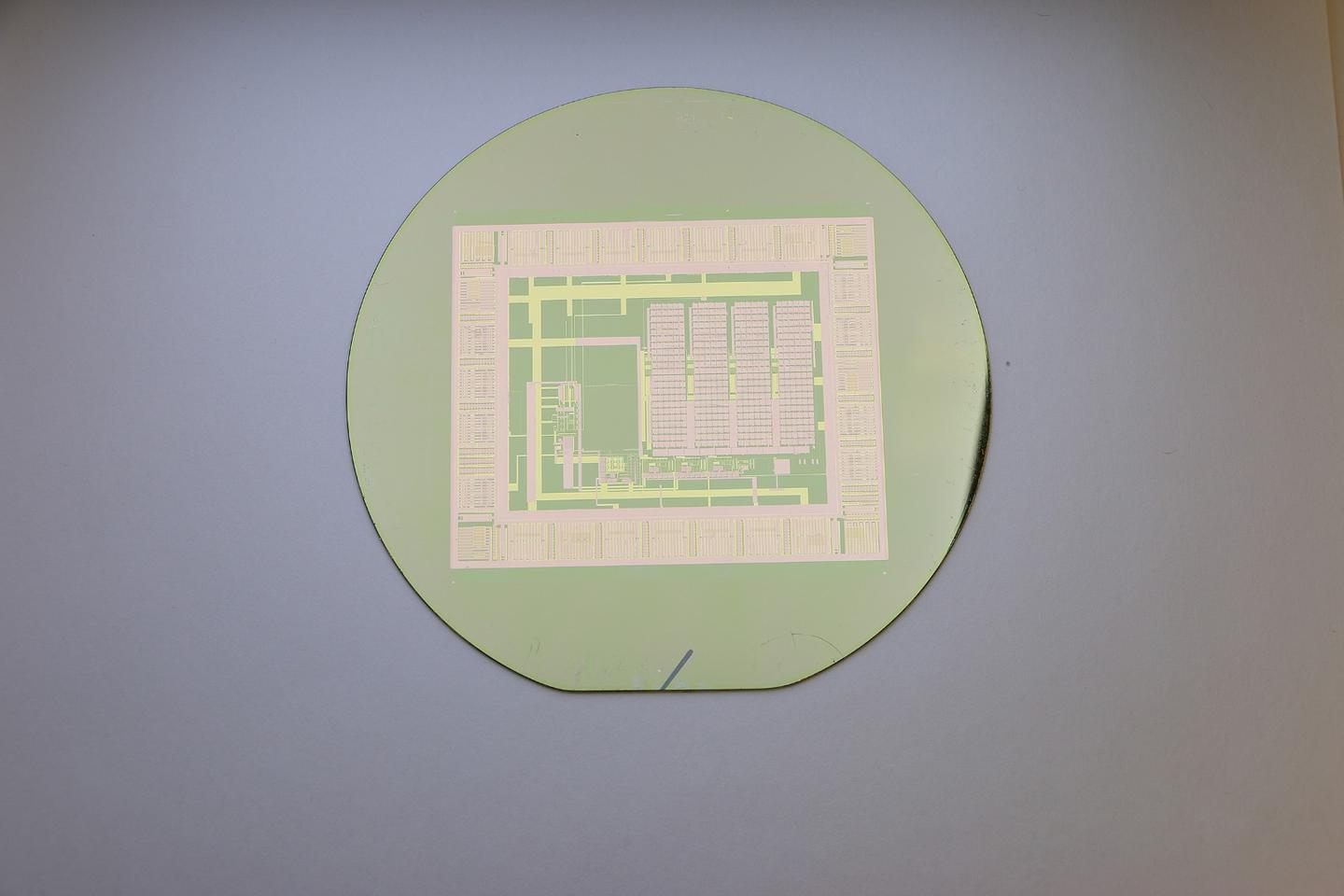 A thin-film electronic circuit can peel easily from its silicon wafer with water, making the wafer reusable for building a nearly infinite number of circuits