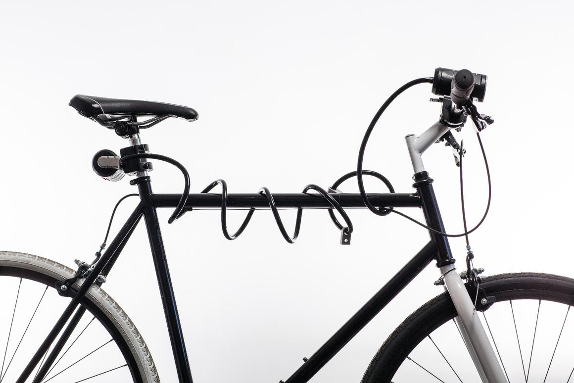 The Lemurlock combines a cable lock with a headlight and tail light