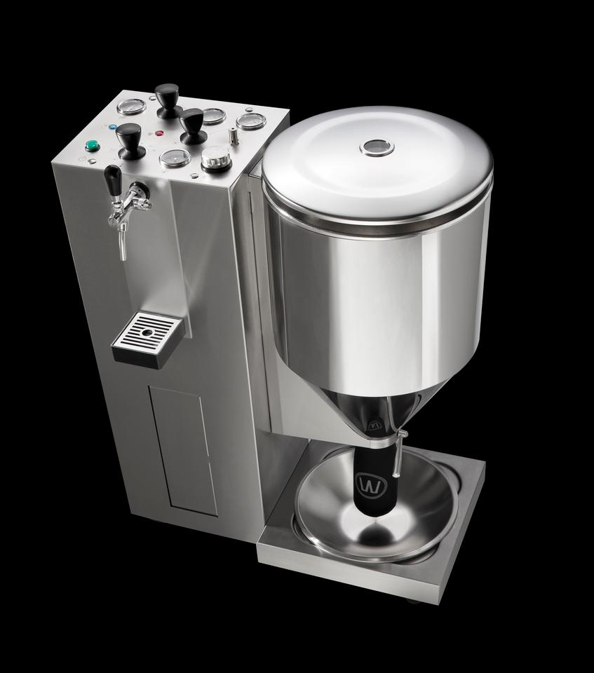 The WilliamsWarn brewing machine produces beer from supplied ingredients within seven days