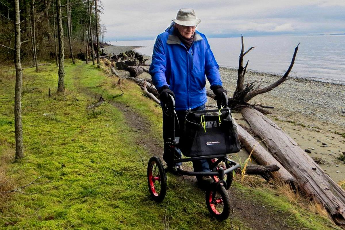 The Rob's Walkers FR-160 model, hitting the trails on Vancouver Island