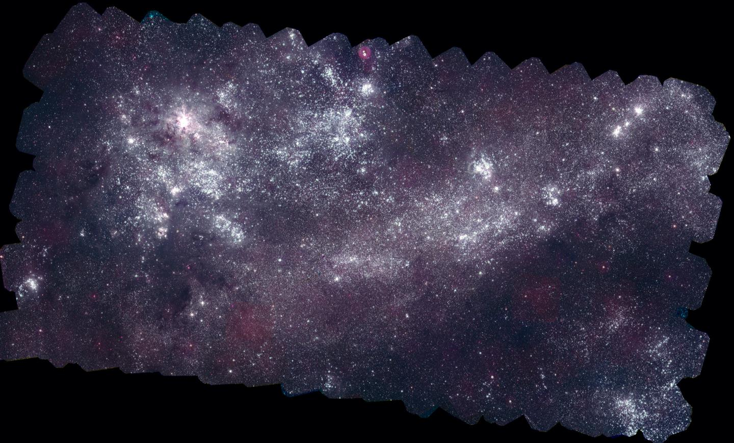 The Large Magellanic Cloud as taken by the Swift satellite's Ultraviolet/Optical telescope (image: NASA)