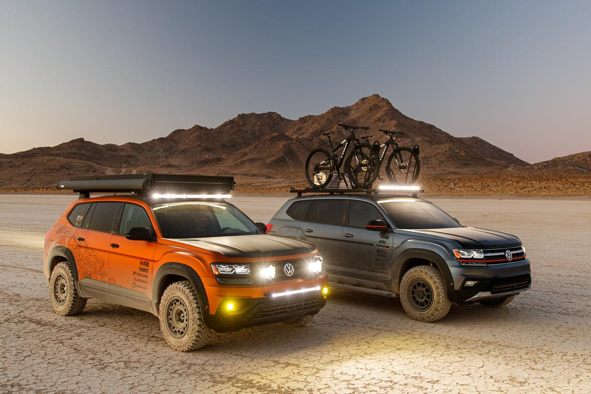The Atlas Basecamp (in gray) is joined by a new Atlas Adventure concept at SEMA