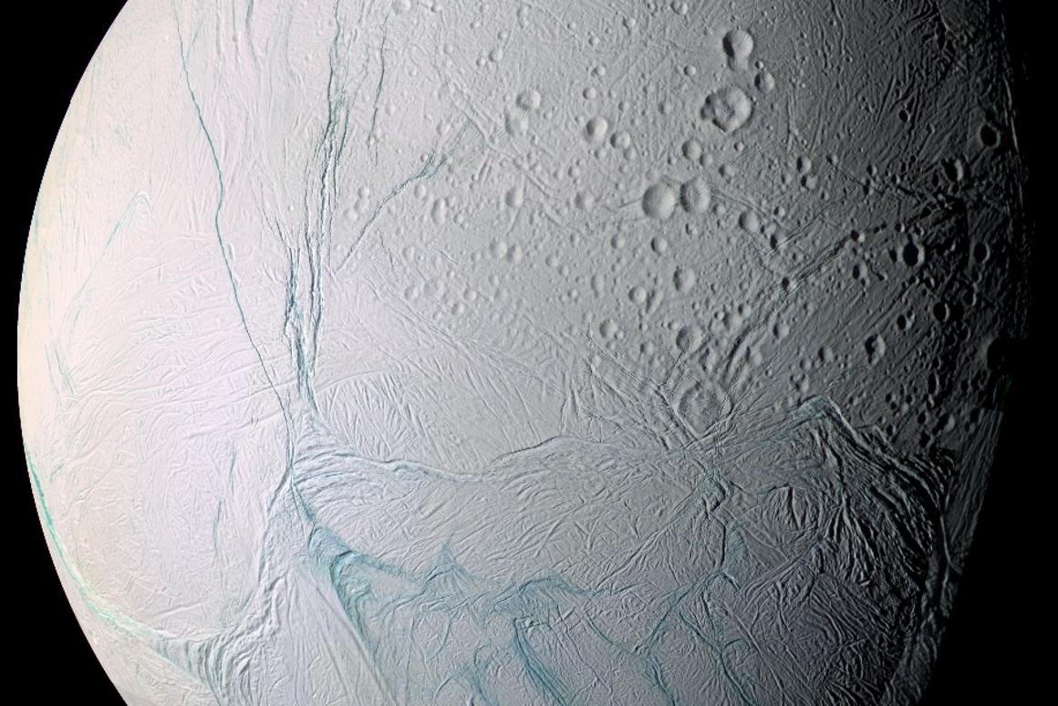 New analysis of Cassini data has found evidence of complex organic molecules in the spray from its subsurface ocean
