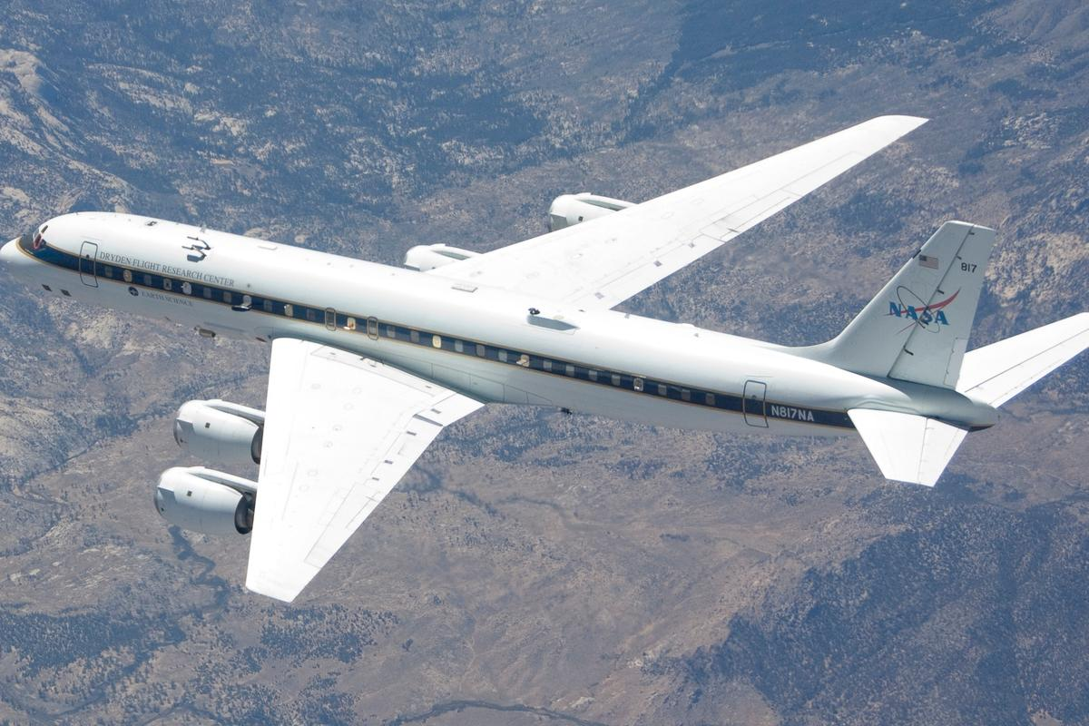 The DC-8 airborne laboratory is one of several NASA aircraft that will fly in support the five new Earth Venture class missions to launch this year (Photo: NASA)