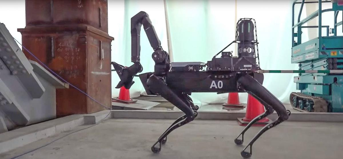 Spot is equipped with an arm/neck for making close inspections