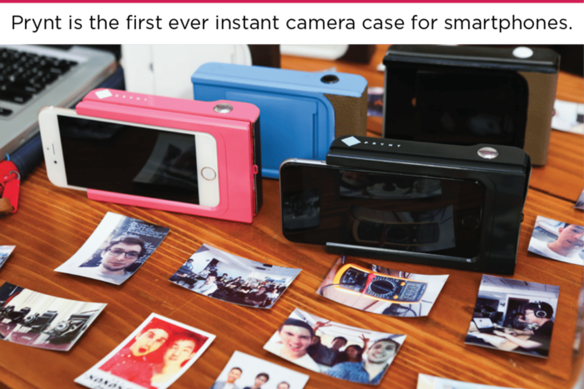 The Prynt instant camera case promises to let you print photographs directly from your Android or Apple smartphone (Photo: Prynt)
