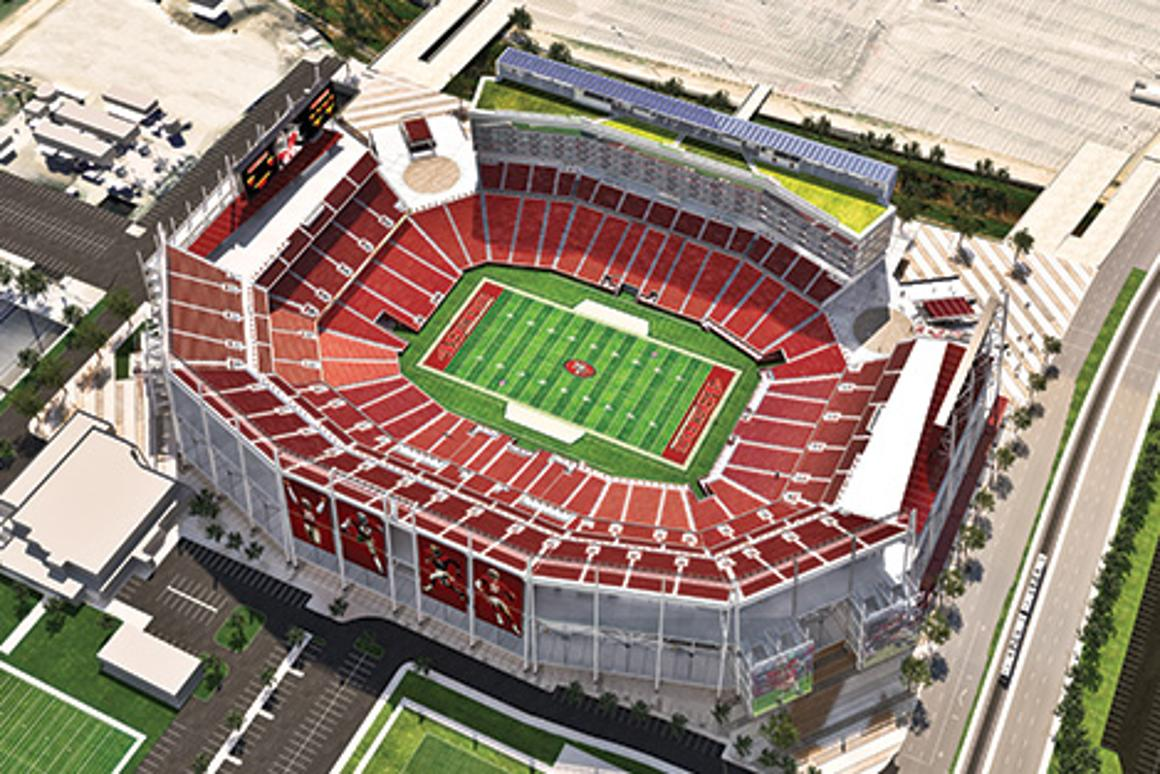 The newly-built Levi's Stadium utilizes both technologically and environmentally advanced features