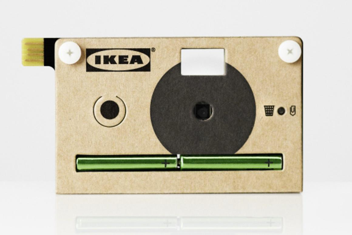 KNÄPPA is a flat-pack cardboard digital camera from IKEA