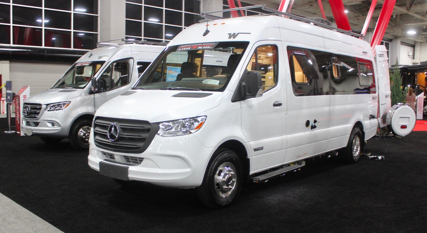 Winnebago held the debut of the new Boldt at RVX 2019 in Salt Lake City
