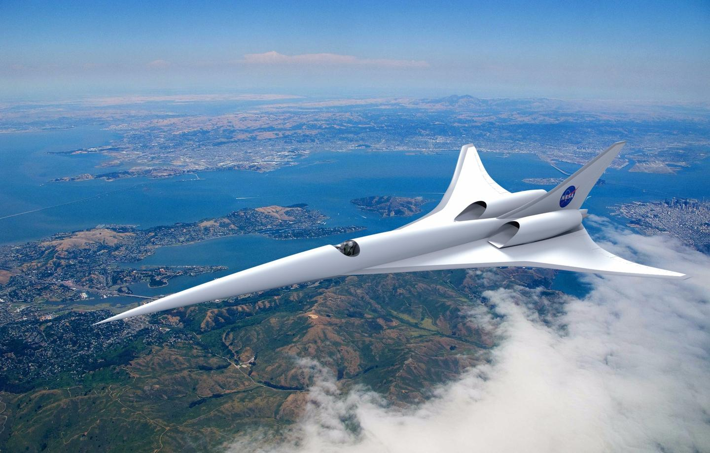Artist's concept of a hypersonic aircraft