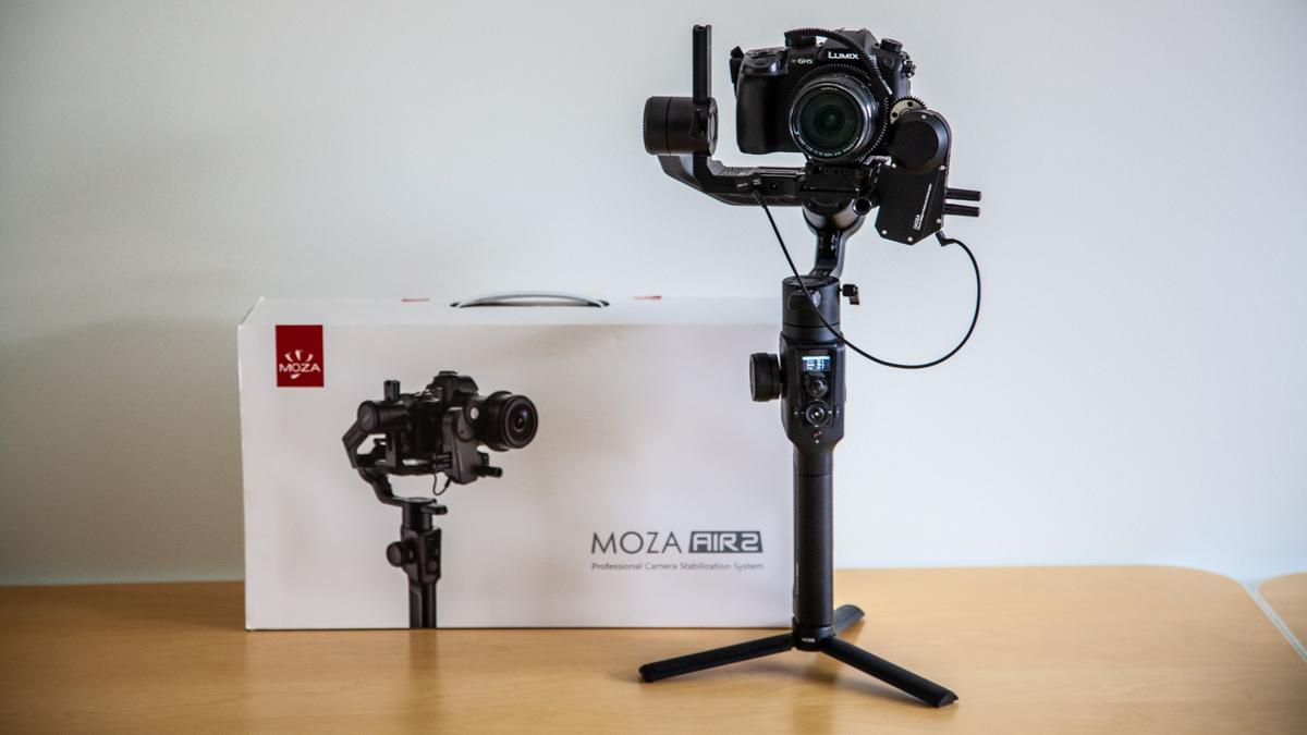 Moza's Air 2 steps things up a level with new features like a quick-release plate, focus controller and atilted roll arm that lets you see the rear screen on your camera without tilting it out