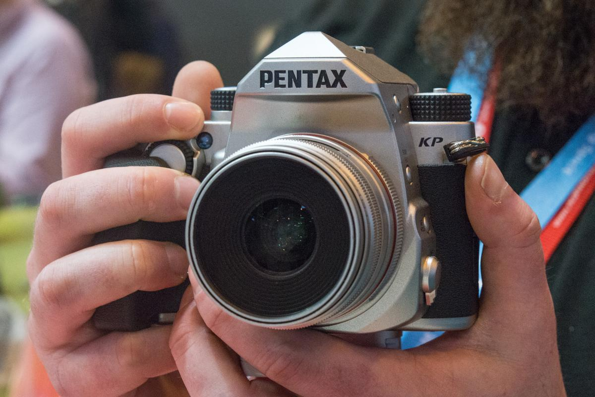 The Pentax KP compact DSLR boasts sky-high ISO settings and built-in 5-axis image stabilization