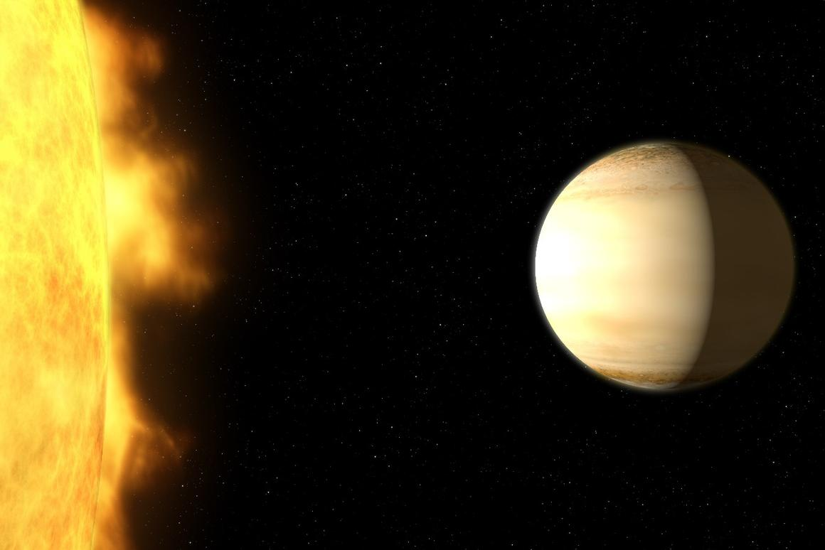 WASP-39b – a hot, bloated, Saturn-mass exoplanet located about 700 light-years from Earth
