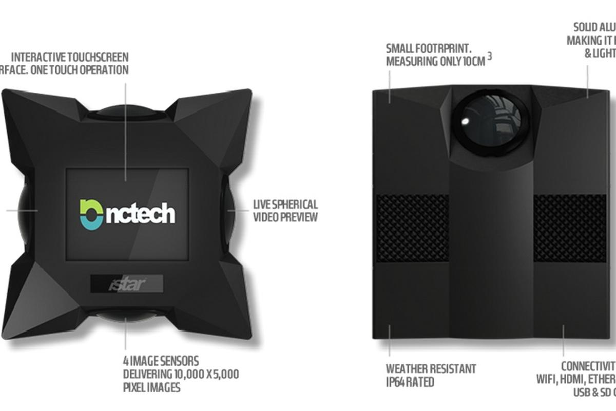 NCTech's iSTAR is designed to deliver high resolution 360-degree image capture