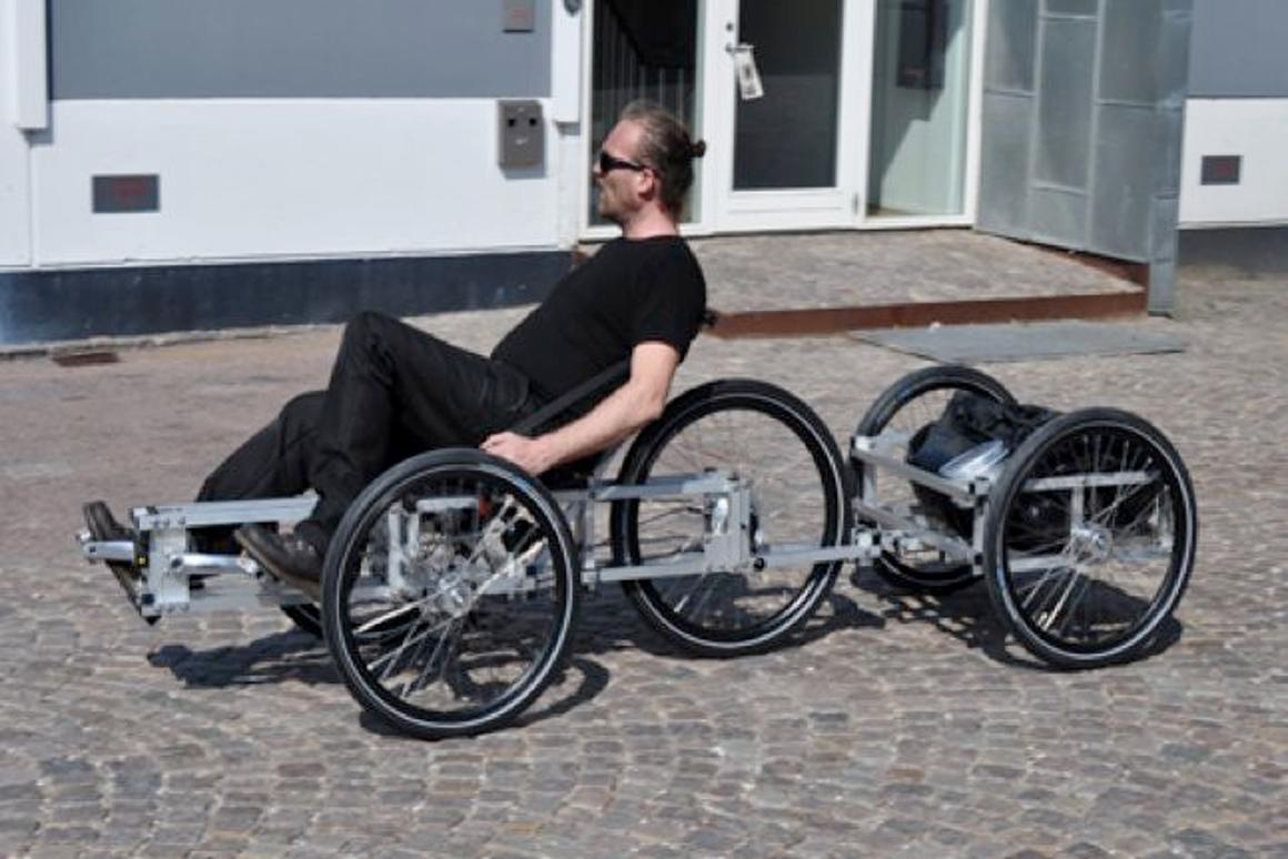 N55's spaceframe tricycle can be built at home from plans
