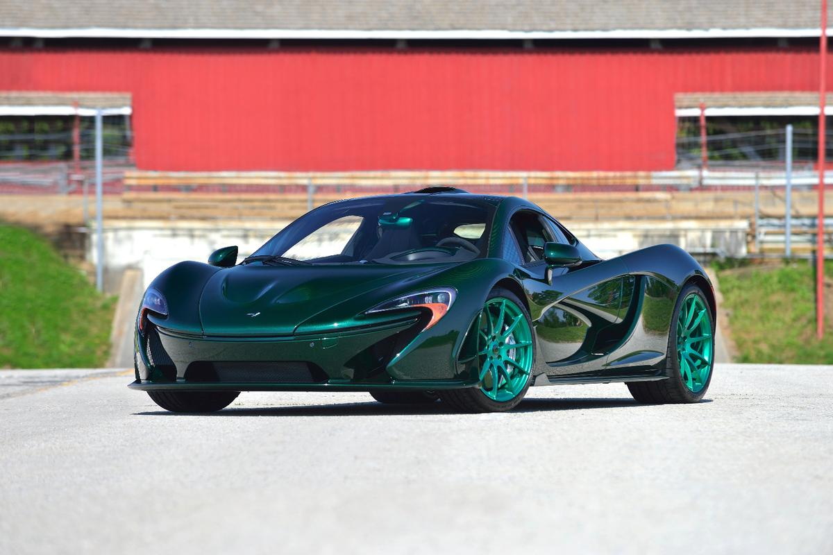 The P1 is a handsome car, but it's not the most subtle car in this shade of green