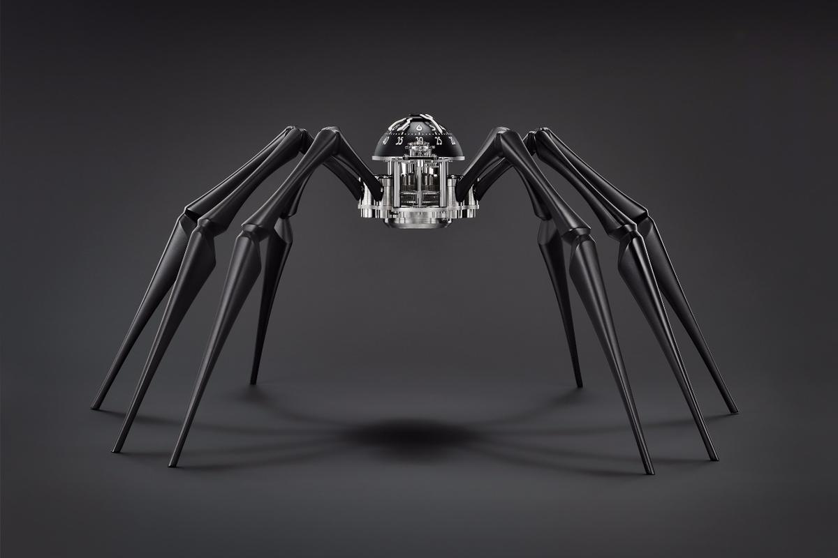 Arachnophobia can be placed standing on a desk or its legs manipulated to create a slightly sinister, arachnophobia-inducing position