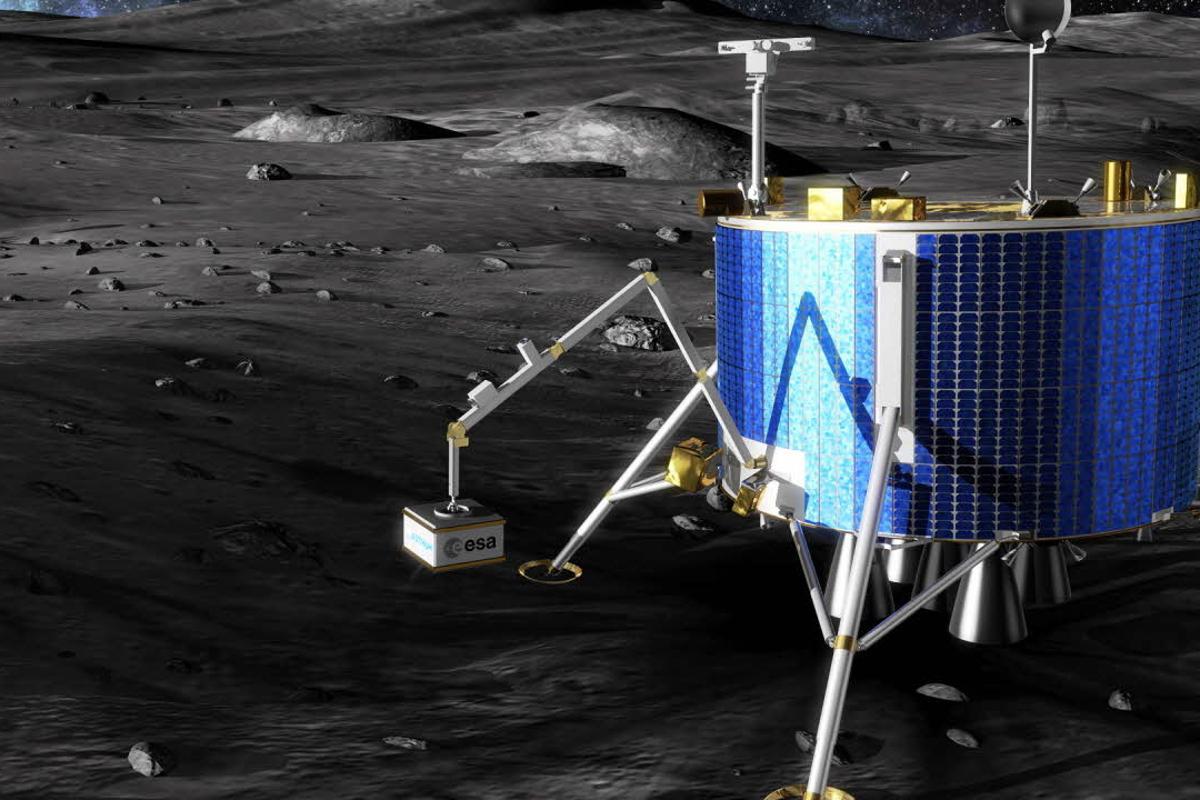 The ESA Lunar Lander deploying experiments