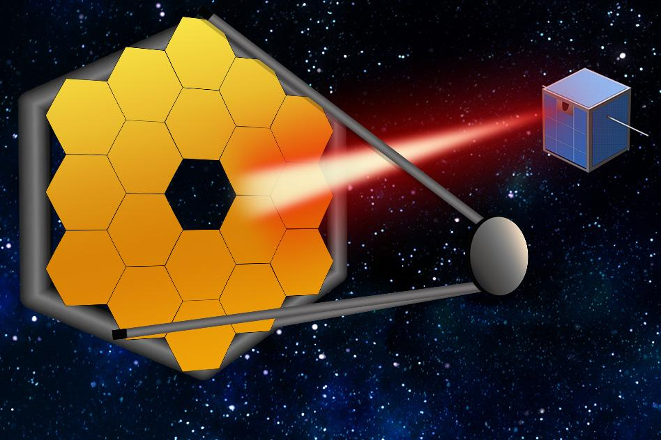 "MIT researchers say that small satellites can follow future space telescopes, and act as ""guide stars,"" by pointing a laser back at a telescope to calibrate the system and produce better, more accurate images of distant worlds"