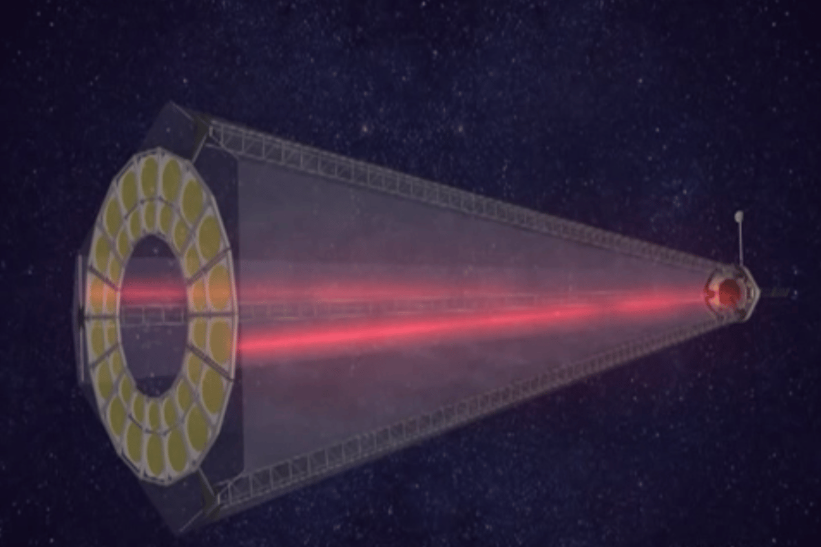 Artist's concept of the foldable plastic telescope