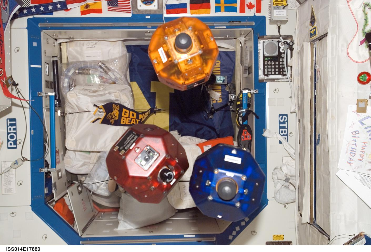 Three free-flying, bowling ball-sized robots aboard the ISS will use a 3D map to provide situational awareness to crew members and flight controllers in real time (Photo: NASA)